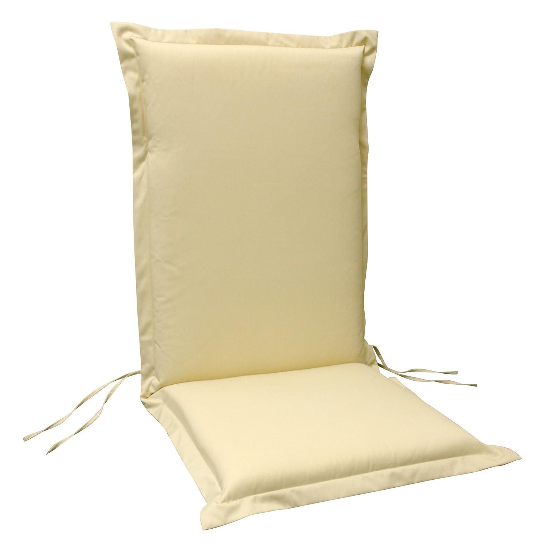 6 x indoba - Sitzauflage Hochlehner Serie Premium - extra dick - Beige