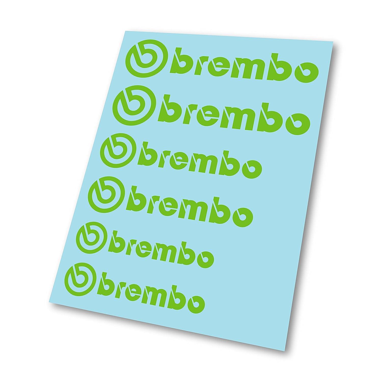 GraphicFX x6 Brembo Badge Stickers Hi Temp Brake Caliper Decal
