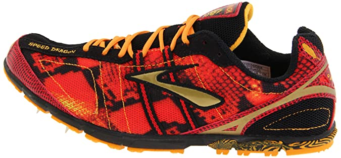 Amazon.com | Brooks Mens Mach 13 Spike Cross Country Shoe, Slam/Zinnia/Black/gold, 15 D US | Track & Field & Cross Country