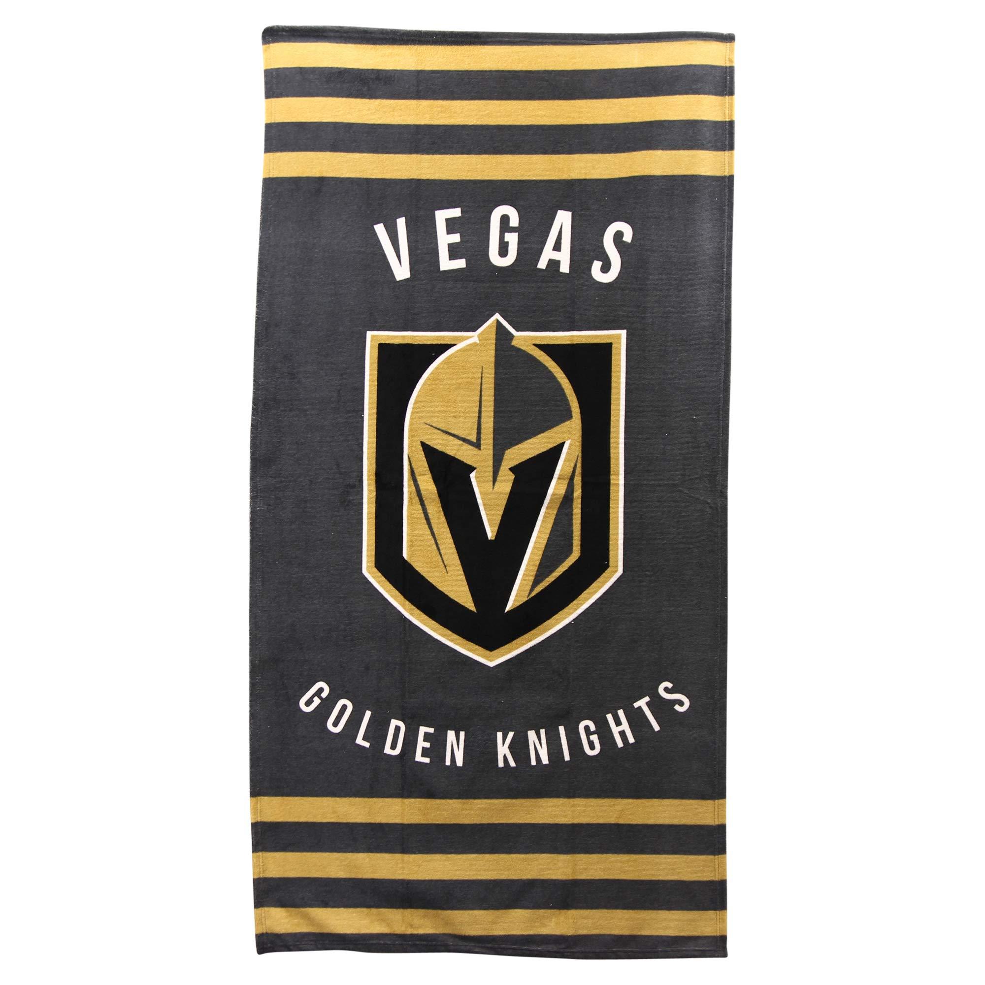 The Northwest Company NHL Striped Beach Bath Towel 30'' x 60'' (Las Vegas Golden Knights)