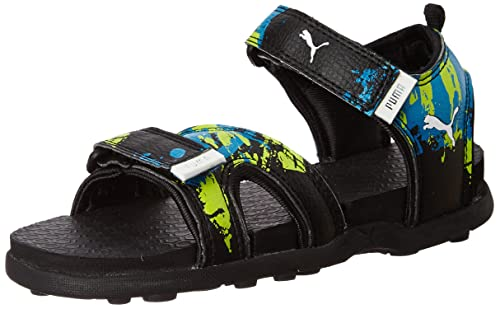 1b586279bdfb Techno Cat Gu Ps Idp Black-Mykonos Blue Sandals - 13 UK India (48 EU ...