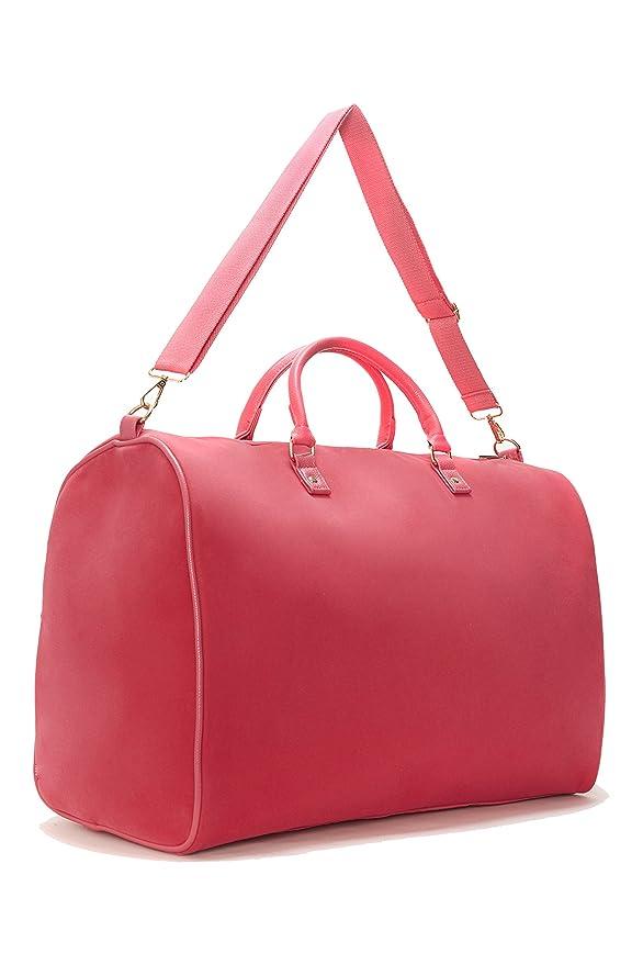 Lulu Dharma Limited Time Sale - Women s Fuchsia Velvet Weekender Bag ... 7279b5cbcfa9a
