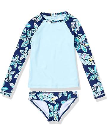 41bbb80f4ff54 Kanu Surf Girls' Long Sleeve Rashguard Two Piece Swim Set