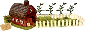 Pabu Guli DIY - Miniature Garden Kit - Farm Set with Barn, Fence and Accessories for Gnome, Troll or Fairy Garden