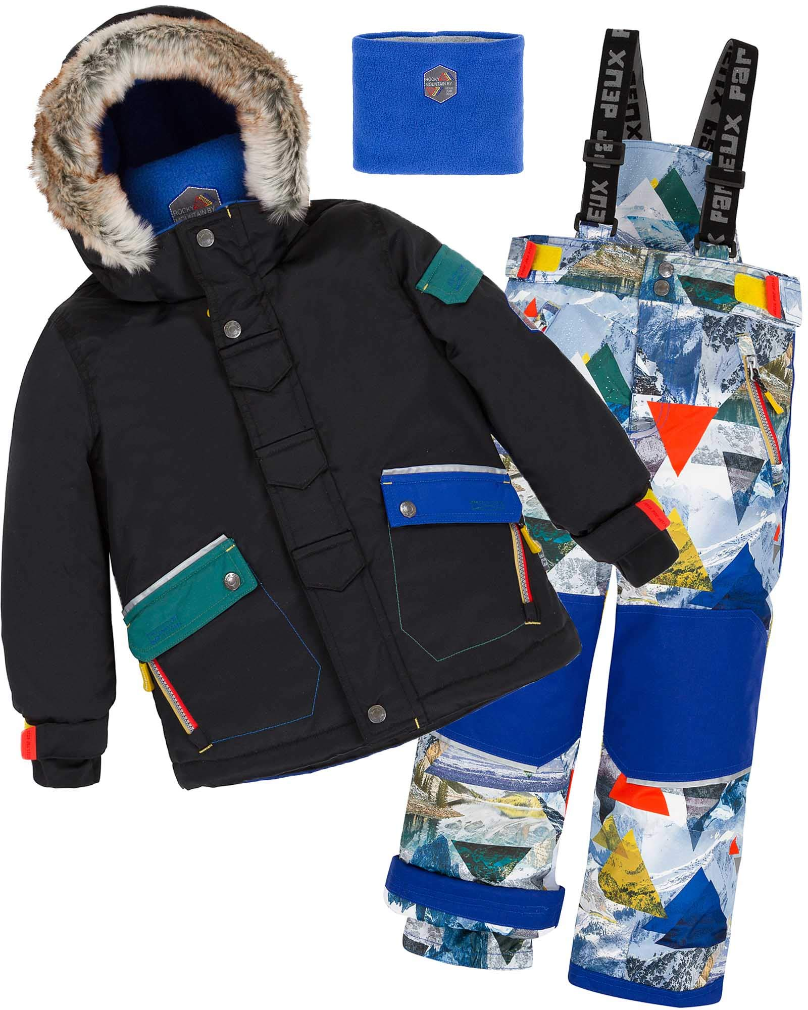 Deux par Deux Boys' 2-Piece Snowsuit Rock The Mountain Print, Sizes 4-14 - 12