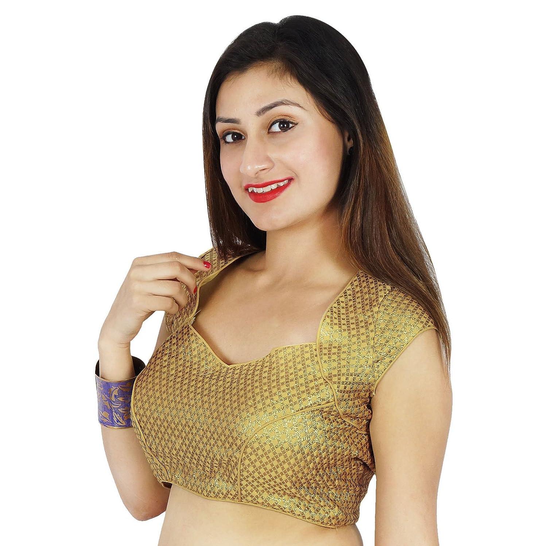 Cosida boda de la blusa del partido que teje ropa de arriba de la cosecha india Ready-Made: Amazon.es: Ropa y accesorios