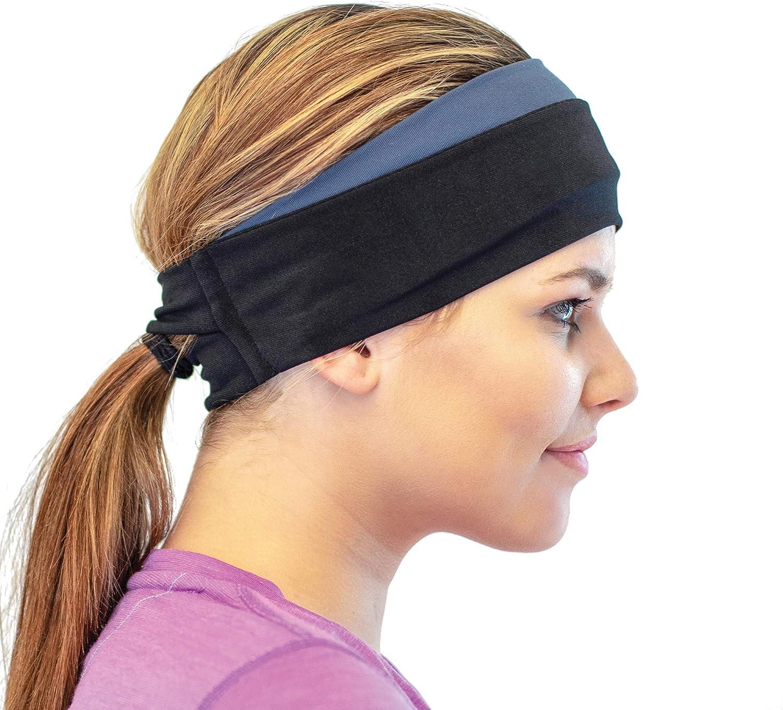 Details about  /Sweat Hair Bands Ponytail Headband Winter Sweatband Running Headband Ear Warmer