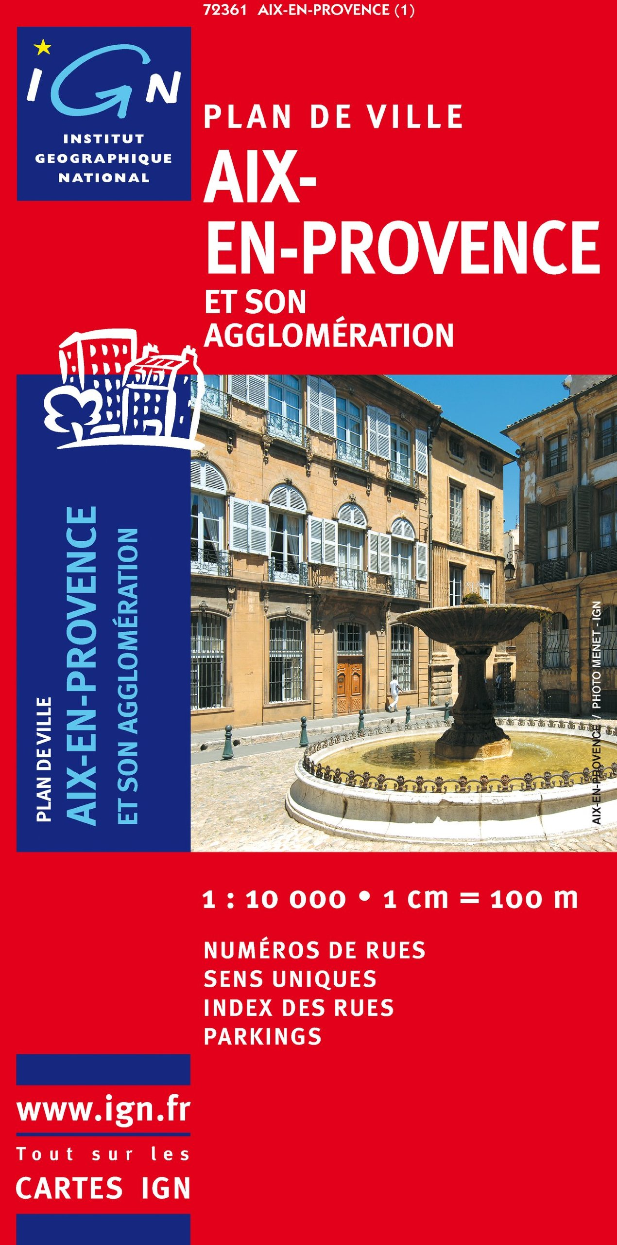 Aix-en-Provence Stadtplan 1 : 10 000