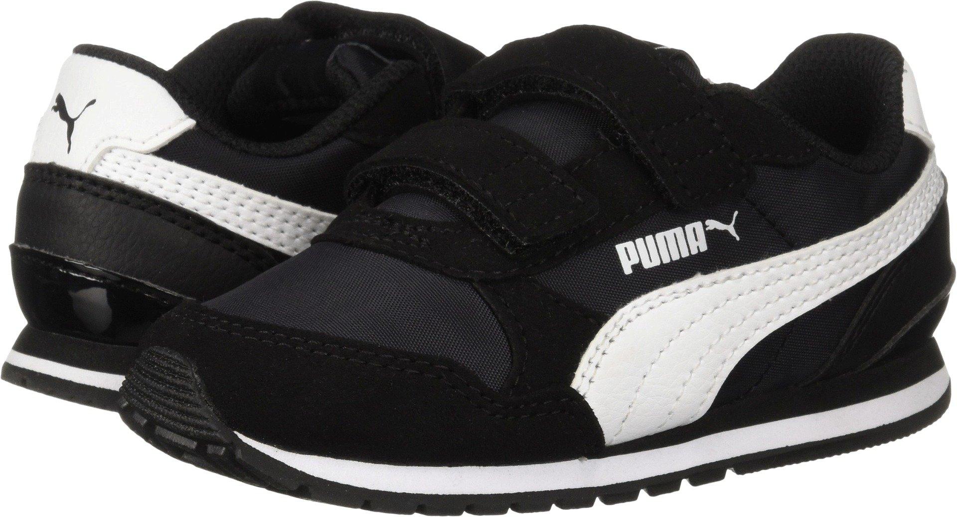 PUMA Baby ST Runner NL Velcro Kids Sneaker Black-White 6 M US Toddler