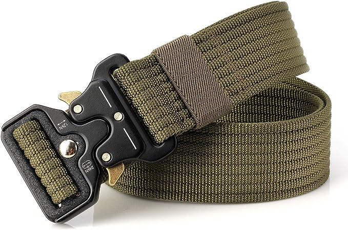 DOOPAI Taktischer G/ürtel f/ür Herren Milit/är-Stil Schnellverschluss strapazierf/ähiges Nylon 3,8 cm Metallschnalle