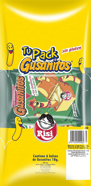 Risi Aperitiv Snacks Gusanitos P6 18: Amazon.es ...