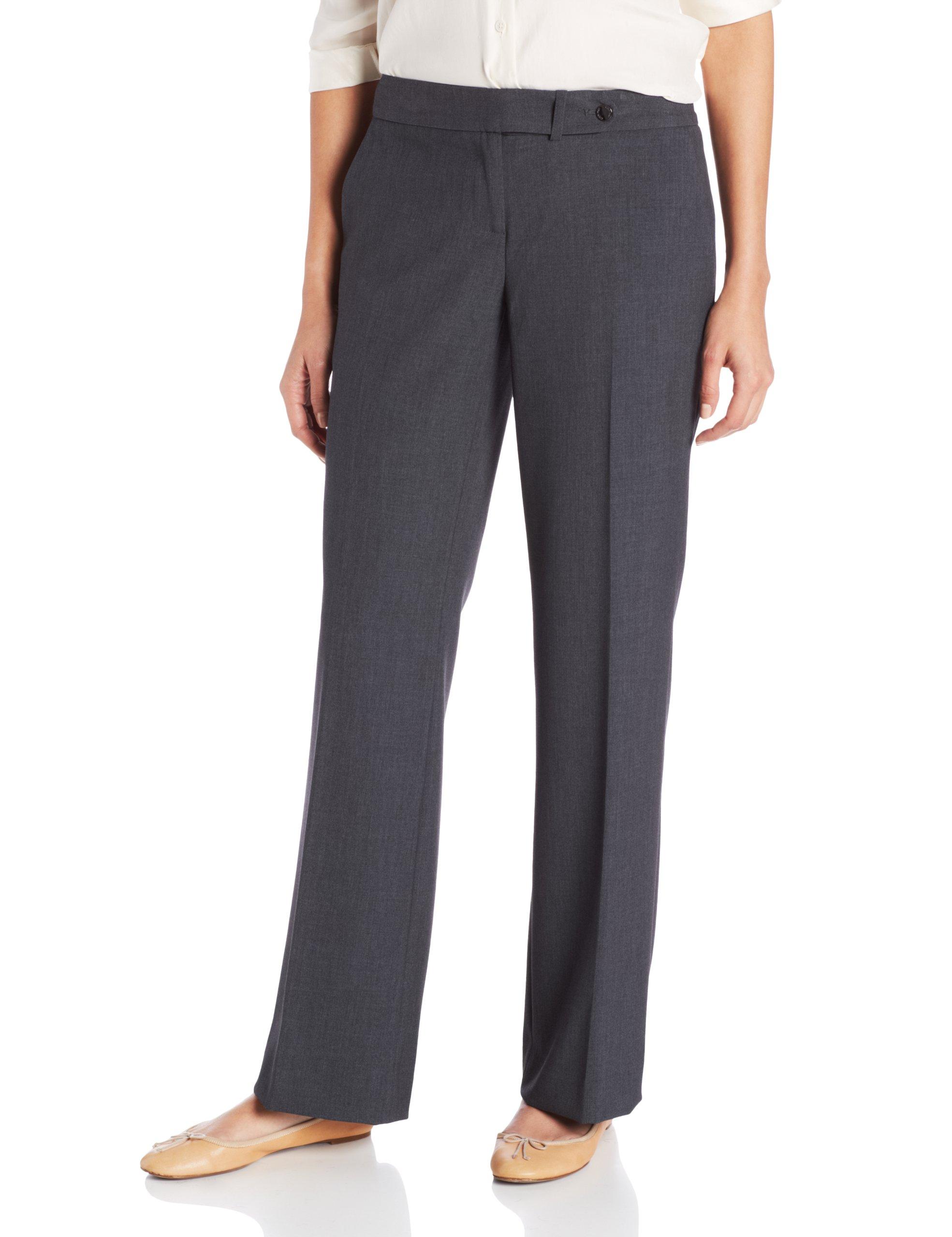 Calvin Klein Women's Classic-Fit Suit Pant, Charcoal, 10