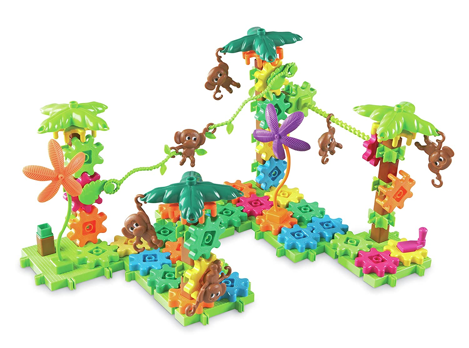 Gears Movin Monkeys Building Set 103 Pieces LER9119 Gears Learning  Resources Gears