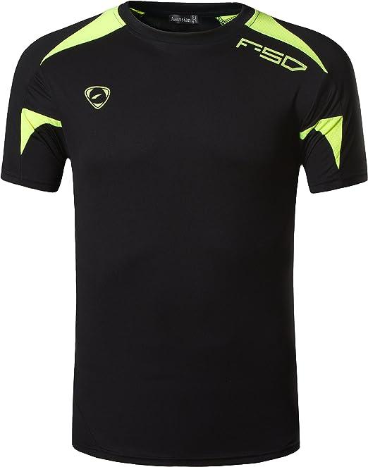 Jeansian Hombres Camiseta Deporte Delgado Tapas Men Quick-dry T-shirt Sport Slim Tops LSL3209: Amazon.es: Ropa y accesorios