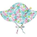 アイプレイ iplay 帽子 プリントハット UVカット あごひも付 ベビー キッズ 帽子 TODDLER:2−4歳 Light Aqua Paradise Flower