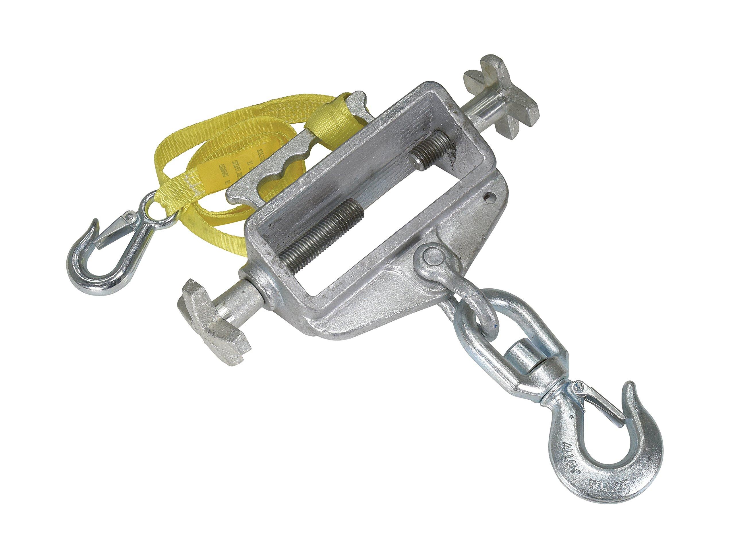 Vestil S-FORK-4/6-SL Single Fork Swivel Hoisting Hook and Latch