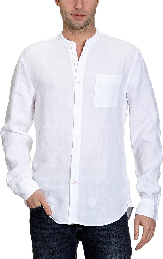 Marc OPolo - Camisa con Cuello Mao de Manga Larga para Hombre ...