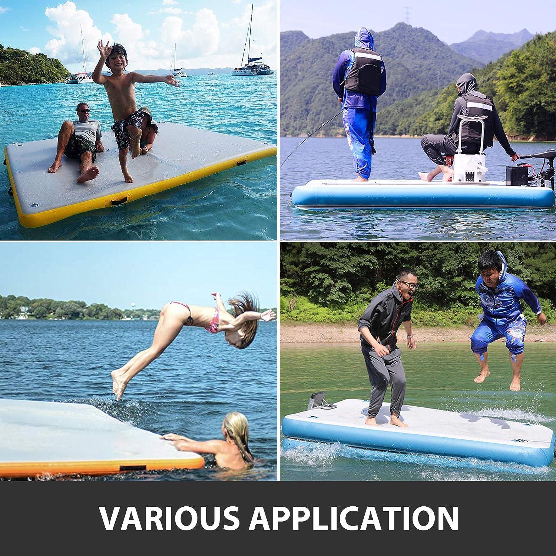 Happybuy Inflatable Floating Dock 8-10 People Floating Platform for Pool Beach Ocean