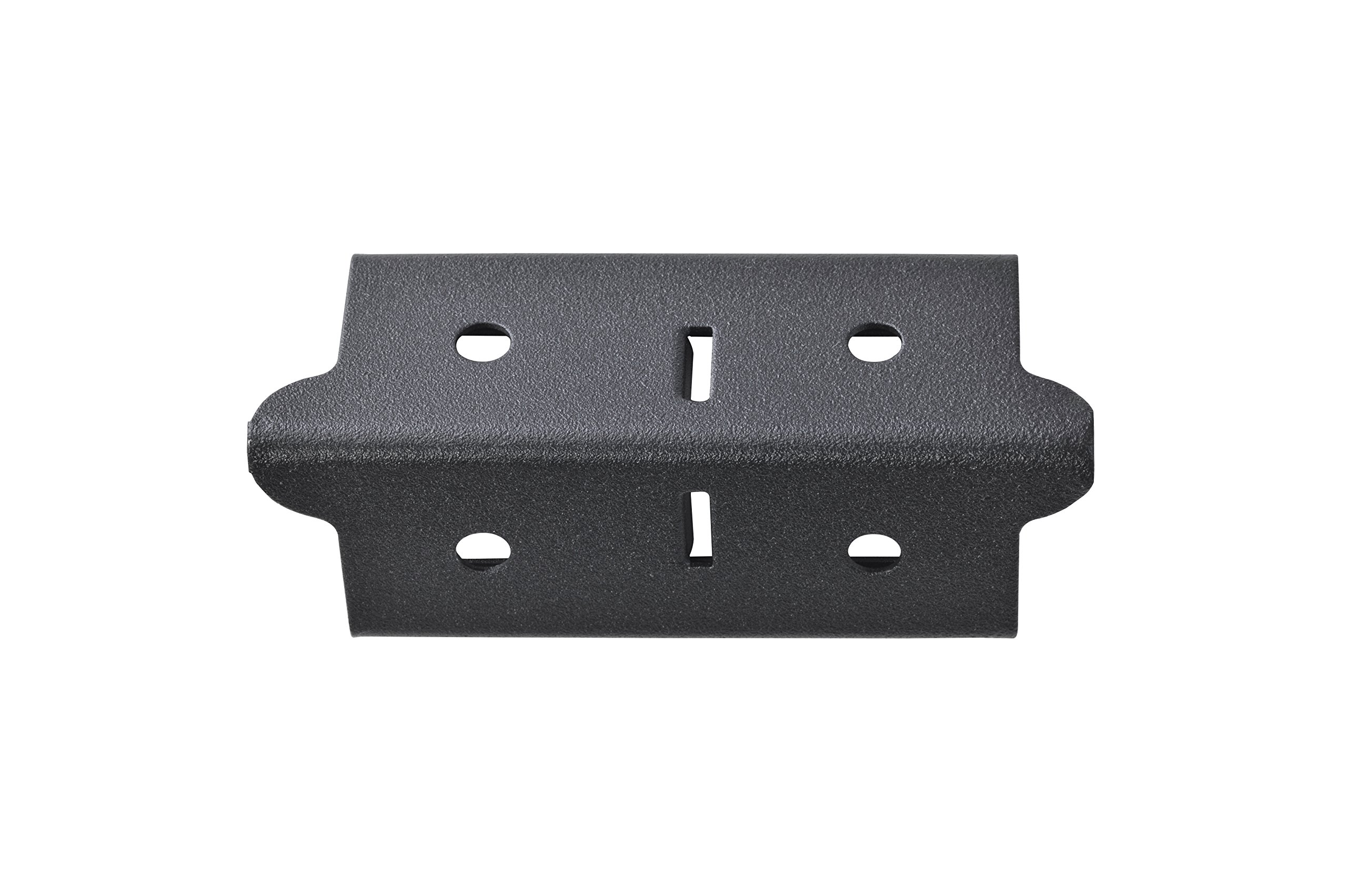 Edsal CPOUT-BLK-4 Muscle Rack Post Coupling Outer Black (4 Pack), 3'' Height, 1.5'' Width, 1.5'' Length (Pack of 4)