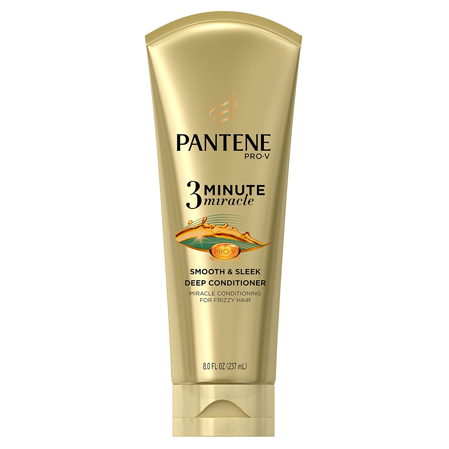 Pantene Smooth and Sleek 3 Minute Miracle Deep Conditioner, 8 Fluid Ounce