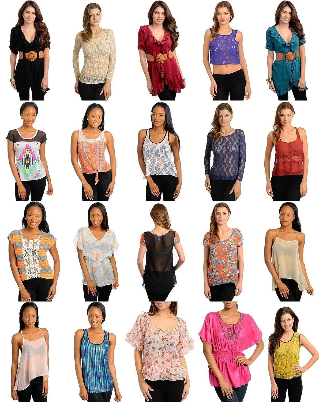 c1e1ec9a9f0 Variety Wholesale Lot 101 Pcs Womens Mixed Apparel Clothing Tops Skirts  Lingerie S M L