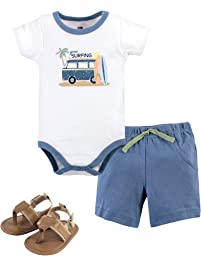 6ff48247a408 Hudson Baby Unisex Baby Bodysuit, Bottoms and Shoes