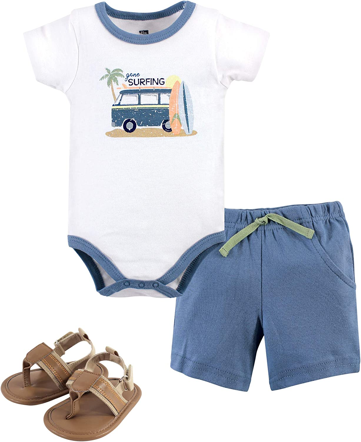 Hudson Baby Unisex Baby Bodysuit Bottoms and Shoes