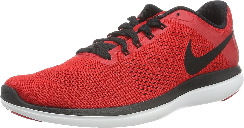 NIKE Men s Flex 2016 Rn University Red Black White Black Running Shoe 8 Men US
