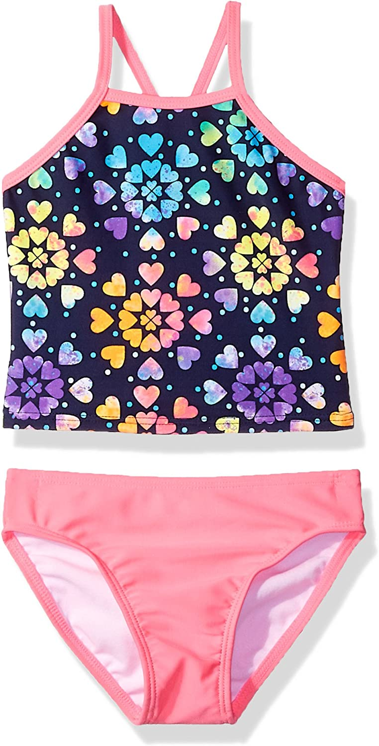 Freestyle Revolution Liitle Girls /& Big Girls Two-Piece Tankini Swim Suit with UPF Protection