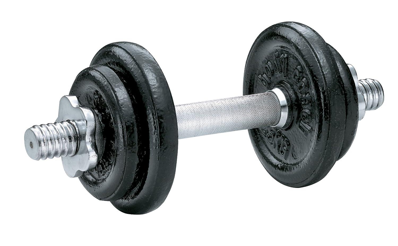 Body Coach - Mancuerna con cierre de rosca (10 kg, 29 x 24 x 6,5 cm), color negro y plateado: Sternverschluß, silbern/schwarz, 29.0x24.0x6.5cm body coach 10 ...