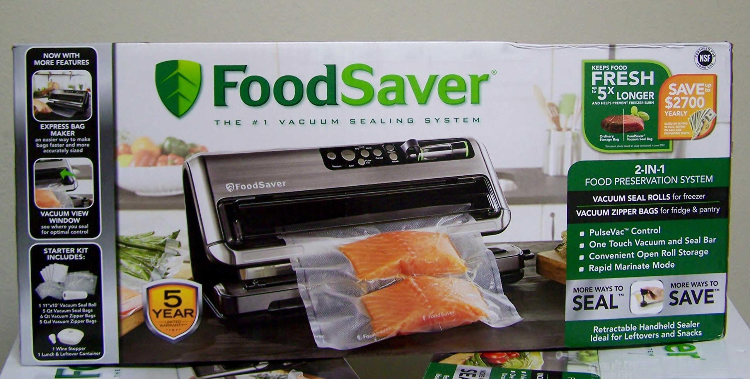 FoodSaver FM5480 2-in-1 Food Preservation System, Black/Silver by Foodsaver