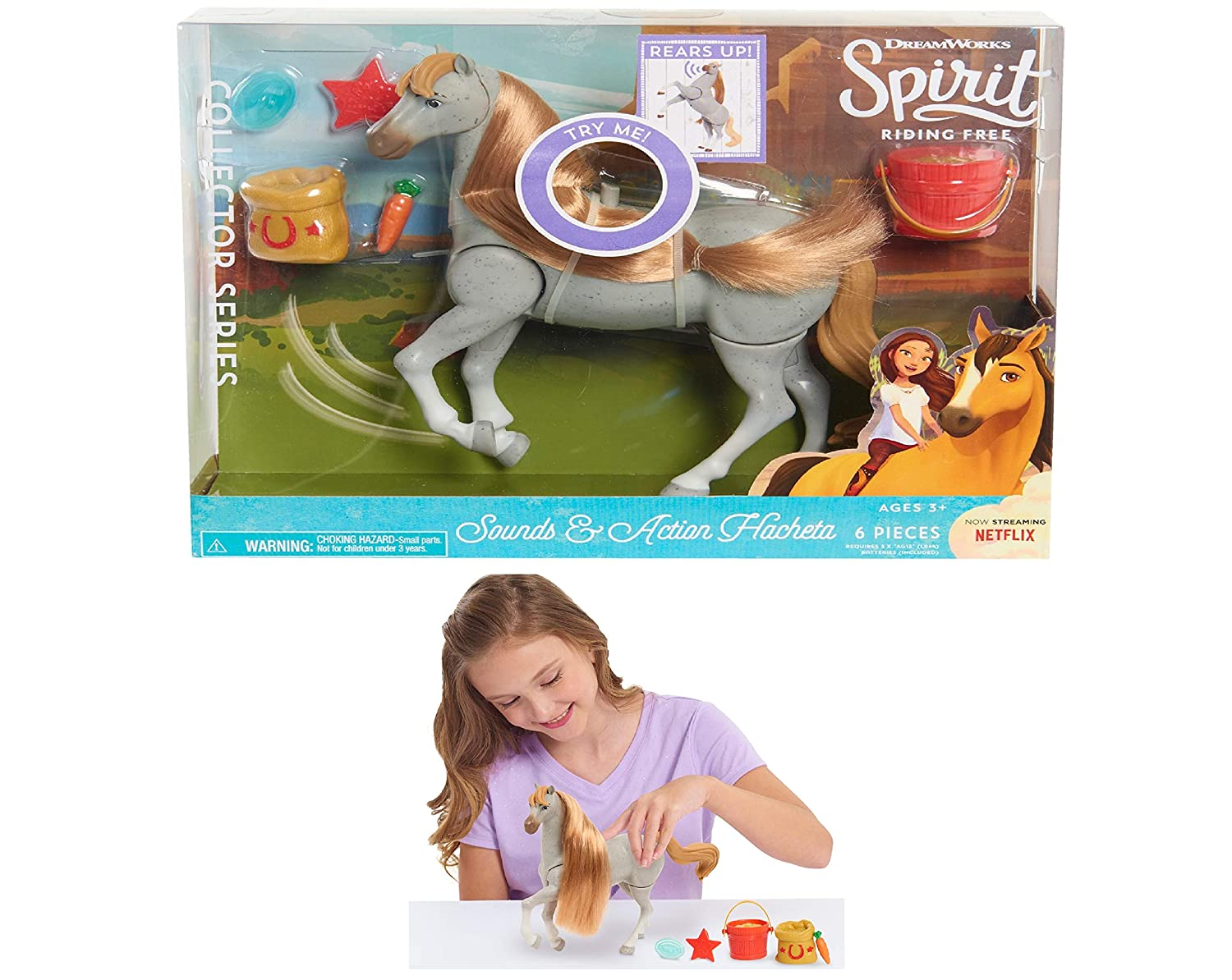 DreamWorks Spirit Riding Free Sounds and Action Horse Hacheta Brand New Toy
