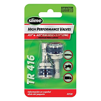 "Slime 20128 Chrome High Performance Tire Valve Stems, 1-1/4"" TR 416: Automotive"