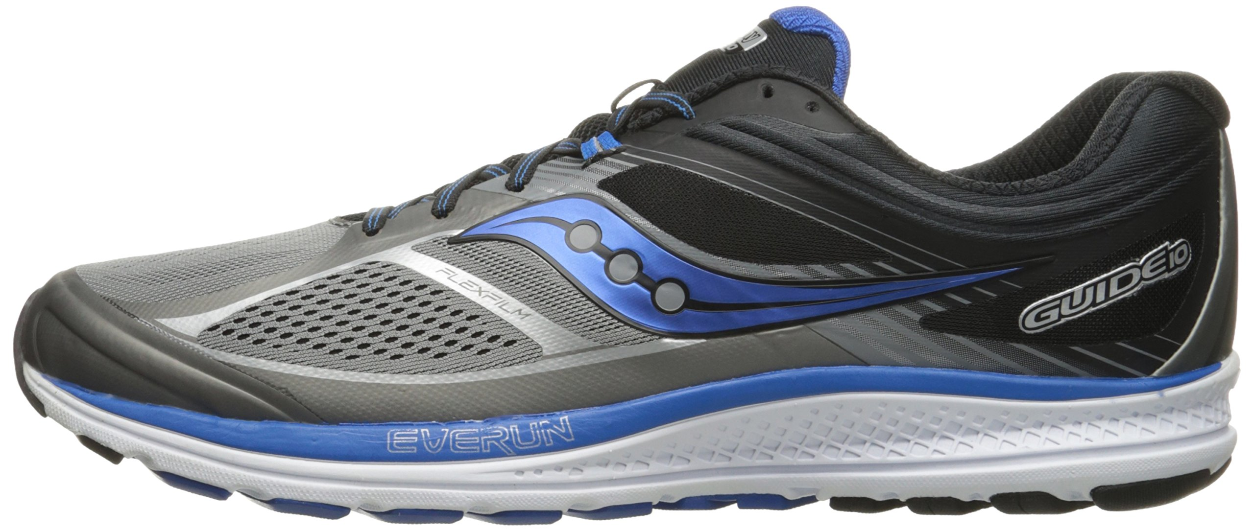 Saucony Men's Guide 10 Running Shoes, Grey Black, 14 D(M) US by Saucony (Image #5)