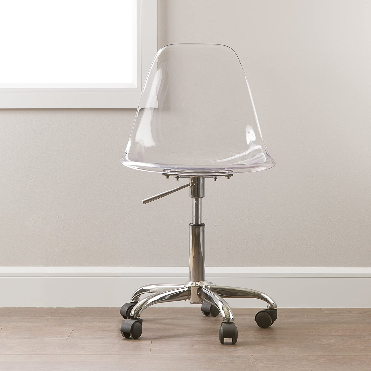 cheap office chairs amazon. Amazon.com: South Shore Clear Acrylic Office Chair With Wheels: Kitchen \u0026 Dining Cheap Chairs Amazon C