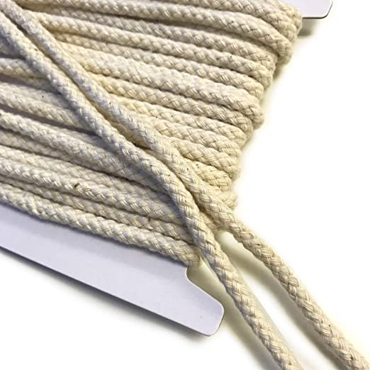 Off White Over Kleshas Cotton Multi Braided Draw Cord Strap 1//4 10YD//Pack