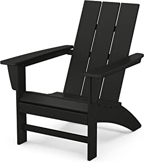 product image for POLYWOOD AD420BL Modern Adirondack Chair, Black