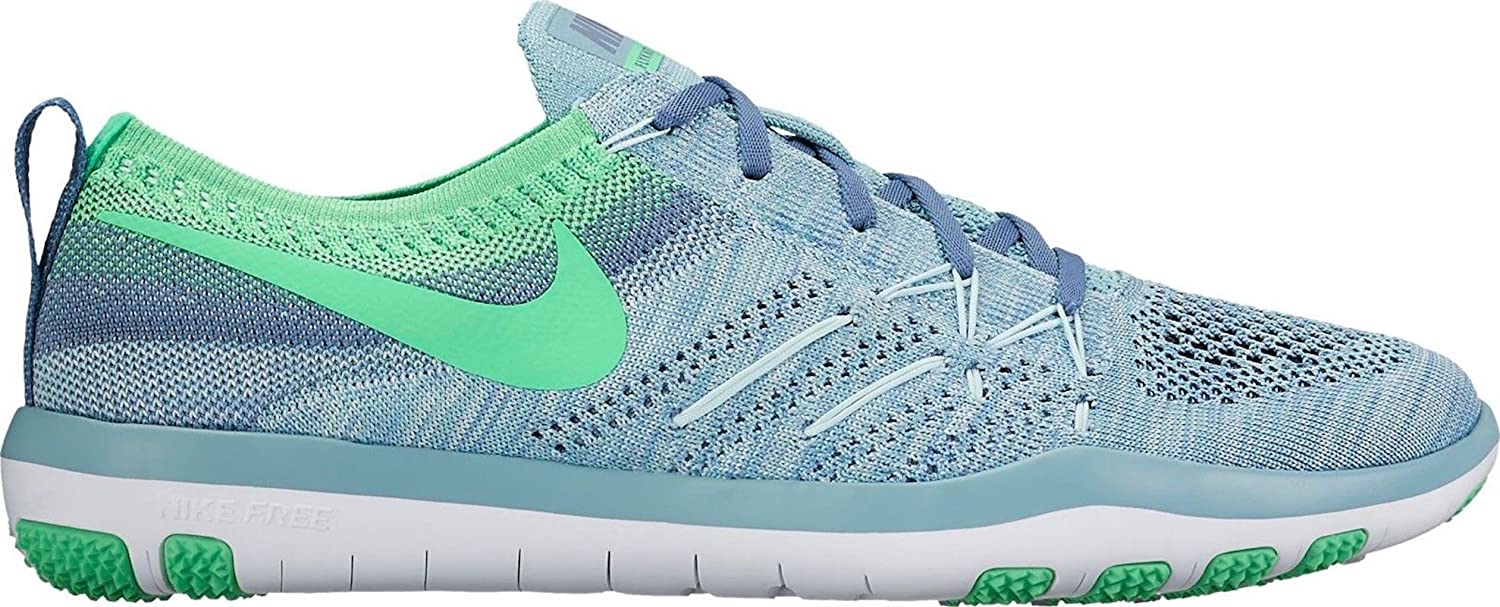 NIKE Women's Blue/Electro Free TR Focus Flyknit Mica Blue/Electro Women's Green B071R9PH4X Parent 916a15