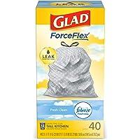80-Count Glad ForceFlex Tall Kitchen Drawstring Trash Bag 13 Gallon