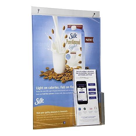 amazon com clear ad lhppn 1117e adhesive acrylic wall mount