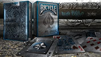 Cartas de juego Bicycle Blue Metal Deck Rare Limited ...