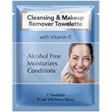 Diamond Wipes Cleansing and Waterproof Makeup Remover Wipes Pack of 50ct Alcohol Fee Wipes with vitamin E