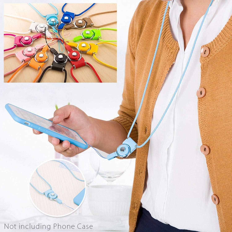 Neck Strap Lanyards for Keys Id Card Gym Mobile Phone Straps USB Badge Holder DIY Phone Hang Rope Lanyard,White