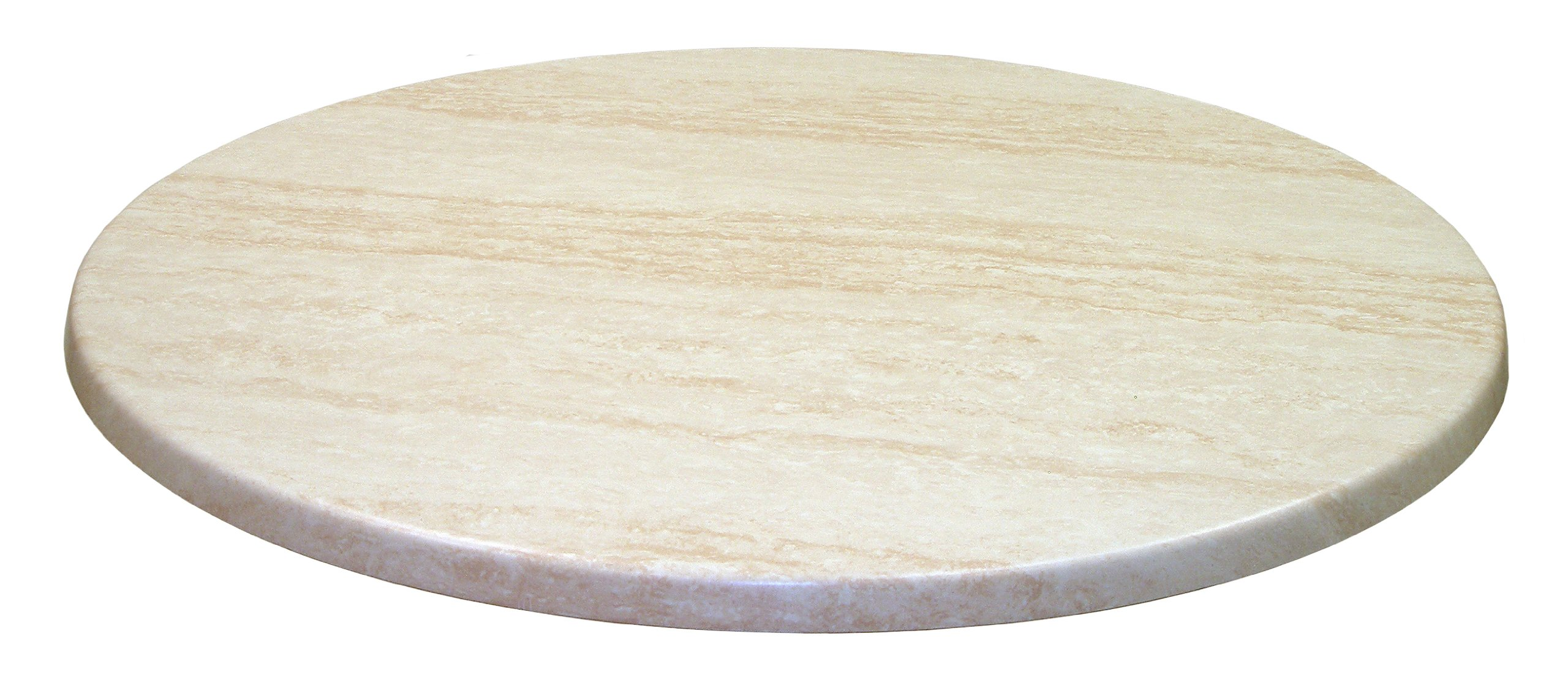 ATC Werzalit Stone-Look Table Top, 32'' D, Travertine (Pack of 2)