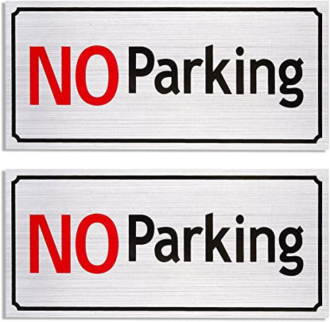 Amazon.com: 2-Pack no parking Signs – Driveway signos ...