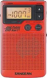 Sangean DT-400WSE RED AM/FM Digital Weather Alert Pocket Radio (Red) Special