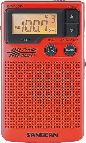 Sangean DT-400WSE RED AM/FM Digital Weather Alert Pocket Radio (Red) Special Edition