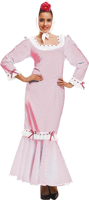 My Other Me - Disfraz de madrileña/chulapa para mujer, talla XL, color blanco (Viving Costumes MOM02328): Amazon.es: Juguetes y juegos