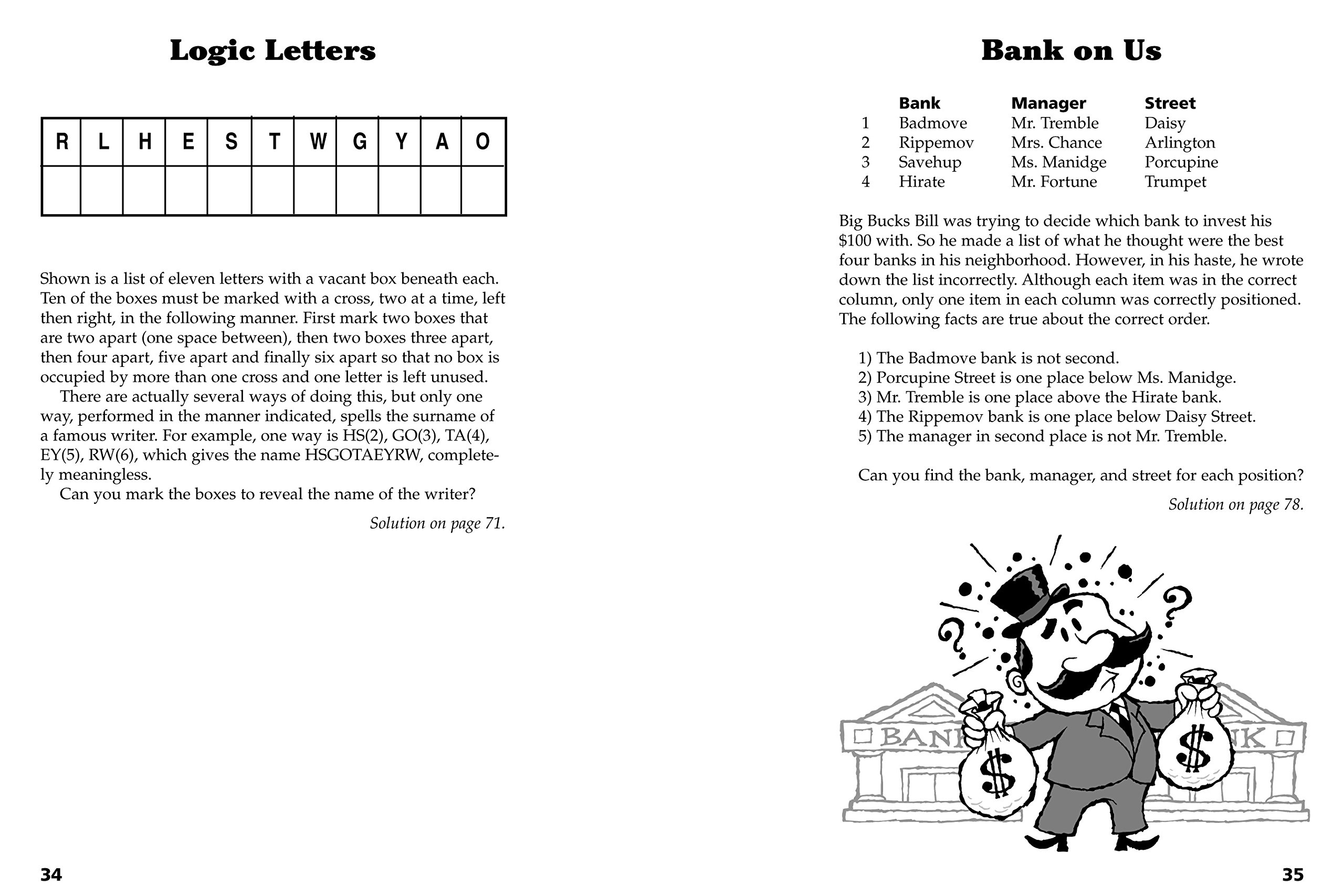 Challenging Logic Puzzles (Official Mensa Puzzle Book