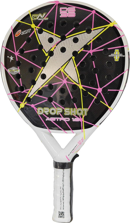 DROP SHOT Astro 1.0 Pala de pádel, Unisex Adulto, Negro/Rosa ...